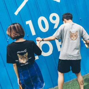 Men's Couple Women Lovers Kitty Cat Kitten T-Shirt
