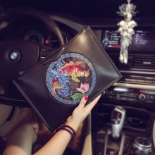 [PRE-ORDER] Women Chinese Envelope Ipad PU Leather Handbag