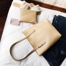[PRE-ORDER] Women PU Soft Skin Large Capacity 2 in 1 Tote Bag