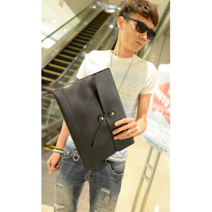 Men Retro Business Casual Holding Envelope Hand Bag