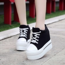 [PRE-ORDER] Women Canvas Thick-soled Platform Casual Shoes