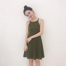 [PRE-ORDER] Women Hong Kong Sexy Sleeveless Strap Dress