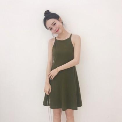 Women Hong Kong Sexy Sleeveless Strap Dress