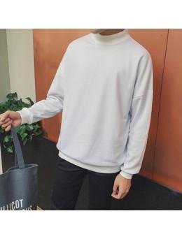 [PRE-ORDER] Men's Plain Color Loose Turtleneck Turtleneck Sweater