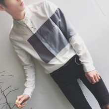 [PRE-ORDER] Men's Collar Long-sleeved Slim Korean Casual Shirts