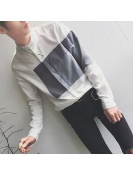 [PRE-ORDER] Men's Collar Long-sleeved Slim Korean Casual Shirts