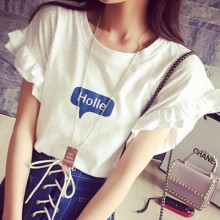Women Clothing Short Sleeve Letters T-Shirts Tops