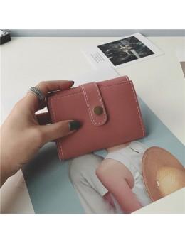 [PRE-ORDER] Women Small Purse Short Buckle Retro Folding Mini Wallet