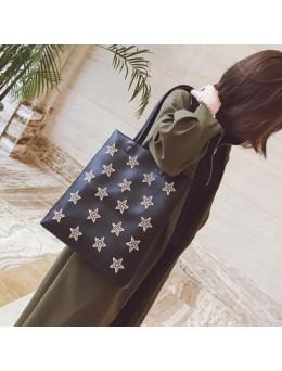 [PRE-ORDER] Women Korean Star Embroidery Tote Leisure Shoulder Bag