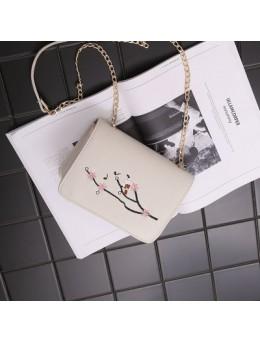 [PRE-ORDER] Women Embroidery Chain Mini Small Sling Cross-body Bag