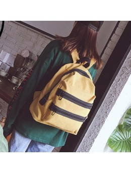[PRE-ORDER] Women Canvas Retro Large-capacity Student Zipper Backpack