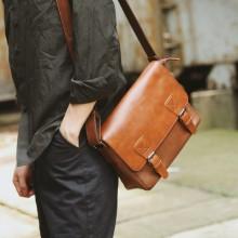 [PRE-ORDER] Men Retro Flip PU Leather Pocket iPad Sling Bag