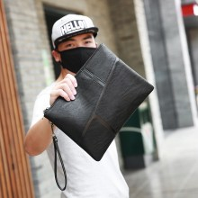 Men Casual Business Leather Envelope Clutch Hand Bag