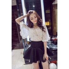 Tops Women Shirts Laces Short Crochot