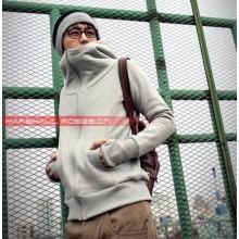 Men's Plain Colored Slim Hoodie Jacket With Zipper