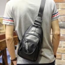 [PRE-ORDER] Men's New Trend Small Messenger Bag Sling Black Backpack