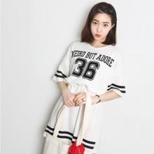 Korean Number Dress Baseball Suit