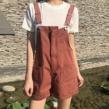 [PRE-ORDER] Women Plain Colored High Waist Loose Jumper Shorts