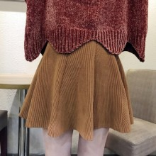 [PRE-ORDER] Women Plain Colored High Elastic Waist Knit Skirt