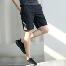 Men's Black With Zippered Pocket Dri Fit Summer Sports Shorts