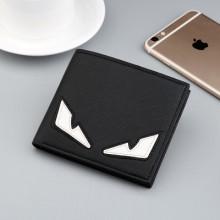 Men's Trendy Monster Eye Multi Card Folding Slim Wallet
