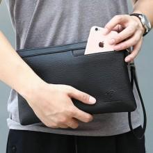 Men's Kangaroo Clutch Bag Leather Business Handbag