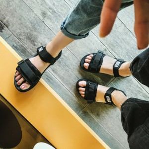 Men's Open Toe Velcro Strap Summer Couple Sandals