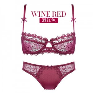 Women Sexy Lace Ribbon Standard Wear Lingerie Set