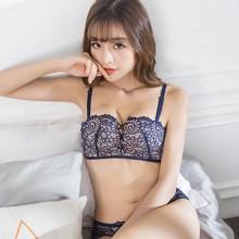 [PRE-ORDER] Women Sexy Flower Lace No Rim Square Cup Lingerie Set