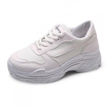 [PRE-ORDER] Women White Female Running Sports Rubber Sneaker Shoes
