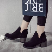 [PRE-ORDER] Women High Fashion Leather Rear Zipper Ankle Boots