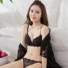 [PRE-ORDER] Women Sexy Lace No Rim Adjustable Bra Comfort Wear Lingerie Set