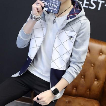 Men's Hooded Zipper Sweater Casual Sportswear Plus Size Jacket