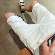 Men's Ripped Denim Jeans Slim Fit Summer Plus Size Shorts