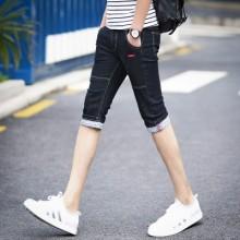 Men's Conventional Cropped Pants Slim Fit Pencil Cut Plus Size Shorts