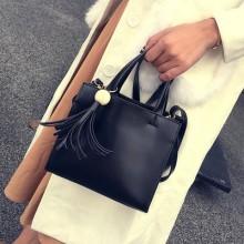 [PRE-ORDER] Women Square Side Fringed With Tassel Elegant Ladies Handbag Shoulder Sling Bag