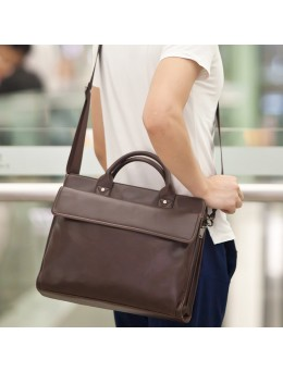 [PRE-ORDER] Men's Brown Business Briefcase Laptop Messenger Shoulder Crossbody Bag
