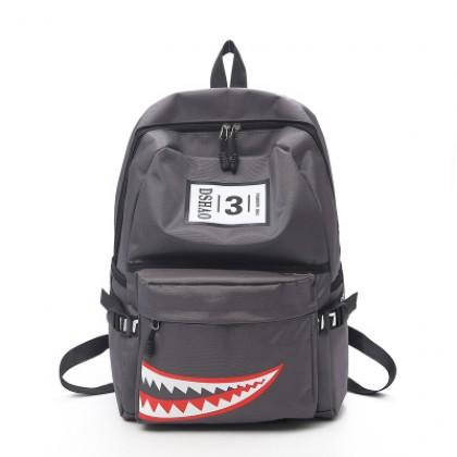 Men's Sharp Teeth Trendy Campus Student Bag Couple Backpack