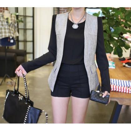 Elastic Plus Size XXL Plain Color Short Pants