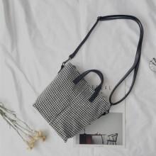 [PRE-ORDER] Women Houndstooth Drawstring Fashion Sling Bag Ladies Shoulder Cross Body Bag