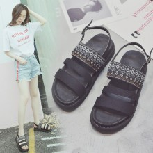 [PRE-ORDER] Women Tribal Thick Bottom Ladies Strap Shoes Open Toe Sandals