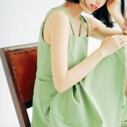 Women Solid Color Sleeveless Summer Fun Design Double Strap Plus Size Long Skirt Dress