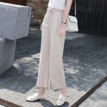 [PRE-ORDER] Women Wide Leg Square Pants Loose Chiffon Casual Plus Size Pants