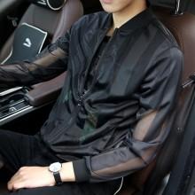 Men's Breathable Handsome Fashion Sports Summer Leisure Plus Size Jacket