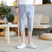 Men's Solid Color Summer Beach Short Pants Breathable Stretch Waist Plus Size Shorts
