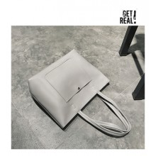 Women Solid Color Simple Fashion Ladies Hand Held Shoulder Bag
