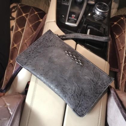 Men's Retro Fashion Clutch Bag Unisex Hand Bag Couple Long Purse Wallet