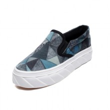 Women Graffiti Style Pedal Lazy Casual Shoes Thick Soled Plus Size Sneakers