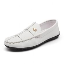 Men's Wild Trend Easy Wear Bean Shoes Casual Flat Shoes
