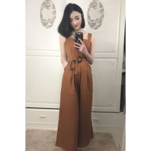Women Casual Loose Waist With Buckle Ladies Straight Pants Plus Size Dress